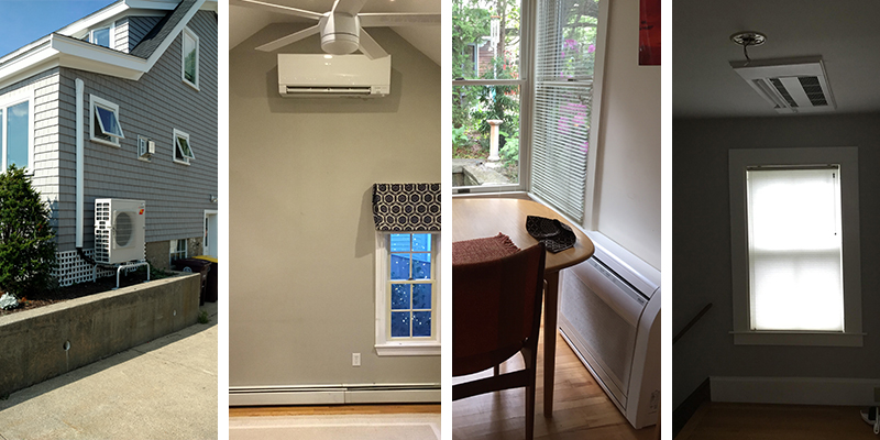 Ductless air source heat pumps